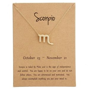 Jewelry - DAINTY 'SCORPIO' ZODIAC SIGN NECKLACE